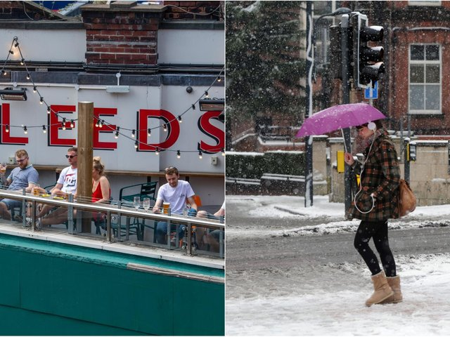 Will it be snow or sunshine for Leeds beer gardens on Monday? Full forecast