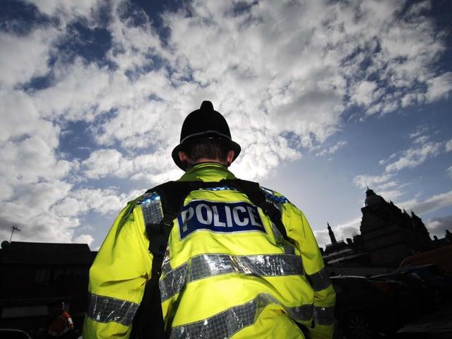 Stock image of policeman.