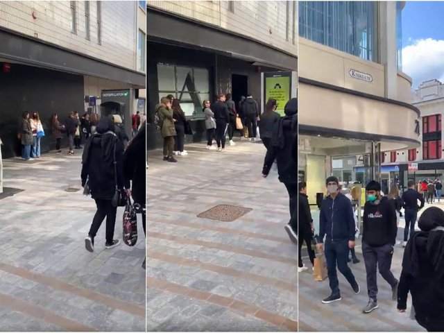 There are 50-minute long queues for Zara in Leeds city centre right now