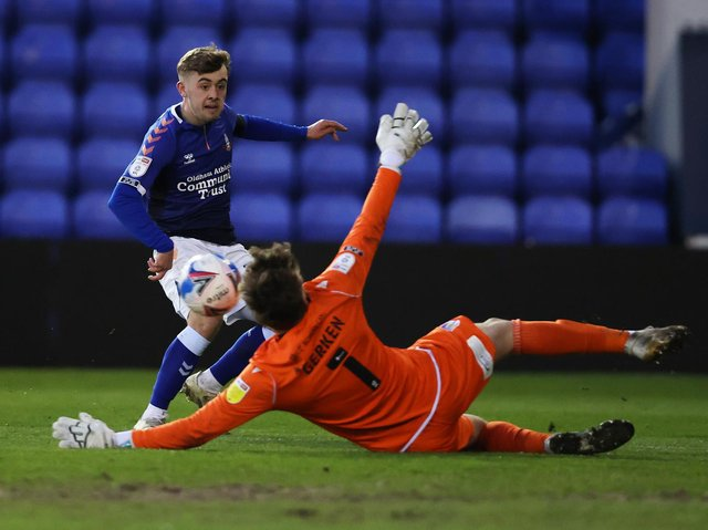 Leeds United loanee Alfie McCalmont has been in impressive form this season at Oldham Athletic. Pic: Getty