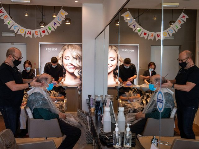 Welcome back. Jeremy Farber reopens his salon, Headfirst in Alwoodley.