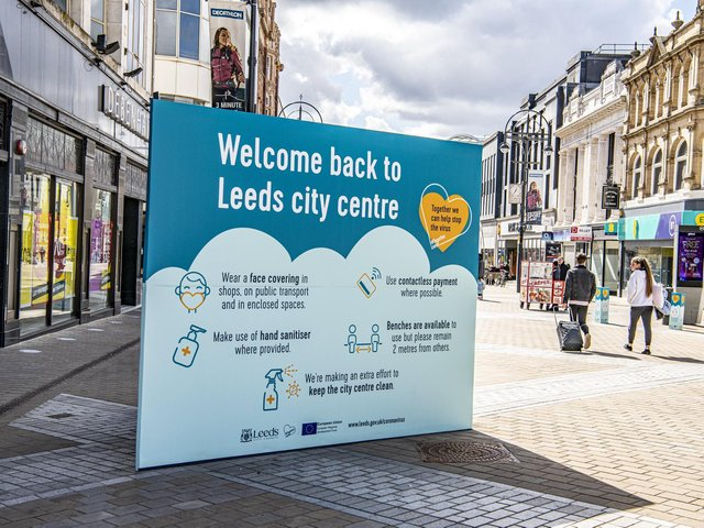 Shops on the high street in Leeds city centre are delighted to welcome shoppers back.