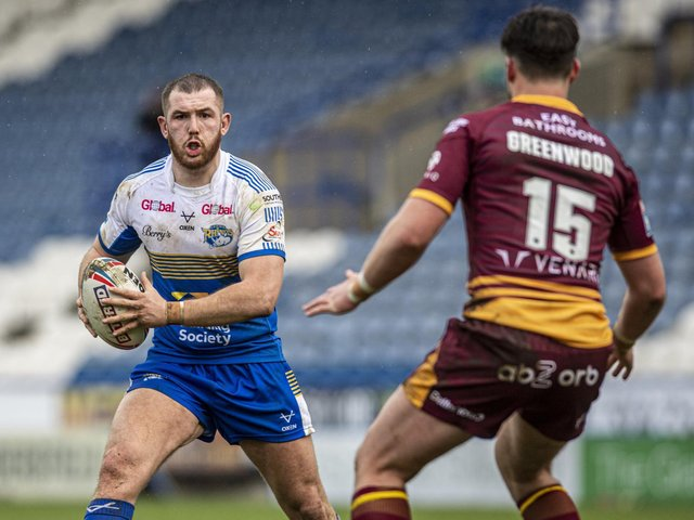 Cameron Smith on the ball for Rhinos. Picture by Tony Johnson.