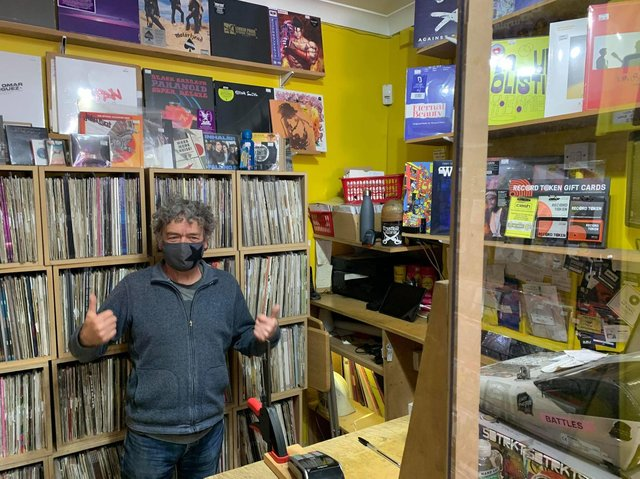 Ian De Whytell, 63, has been the proud owner of Crash Records on the Headrow for more than 23 years.
