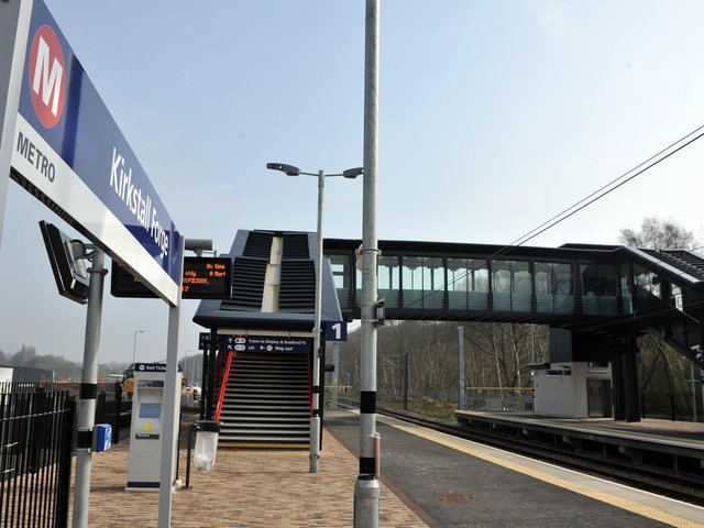 The incident happened near Kirkstall Bridge, between Leeds and Kirkstall Forge station (pictured).