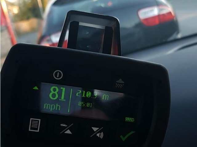 A motorists was speeding at 81mph in a 40mph zone (photo: WYP).