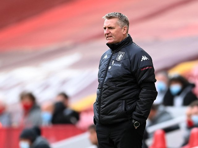 WHITES EXAMPLE: Used by Aston Villa boss Dean Smith, pictured during Saturday's 2-1 defeat against Liverpool at Anfield. Photo by Clive Brunskill/Getty Images.