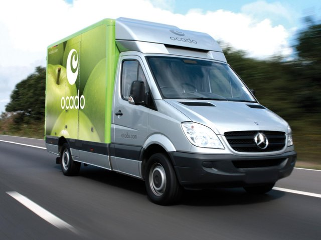 Library image of an Ocado van
