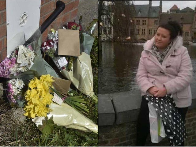 Flowers have been left outside Sarah Keith's flat.