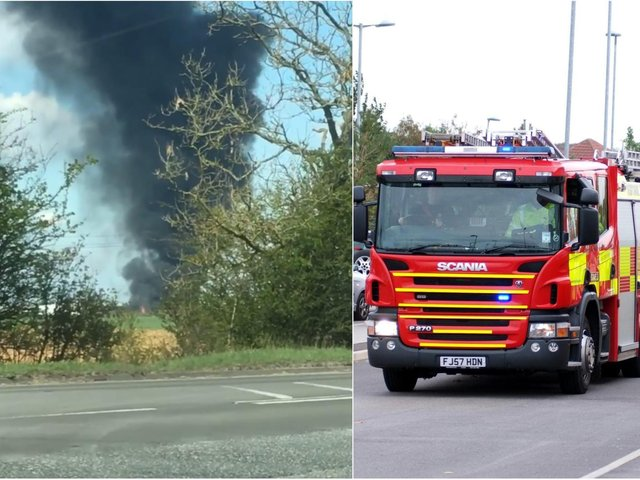 Garforth fire: Seven fire engines have been called to a blaze in Leeds. Photo: Emma Woodward
