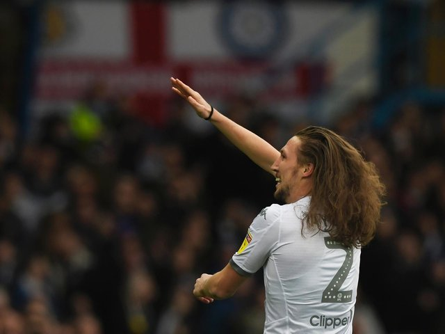 NO INTEREST: In Leeds United defender Luke Ayling's long flowing locks from hair product companies on Instagram, even in the Premier League, much to the defender's dismay. Photo by George Wood/Getty Images.