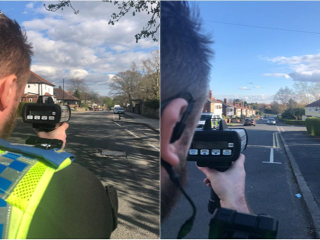 Police caught 23 cars speeding through Headingley in less than one hour.