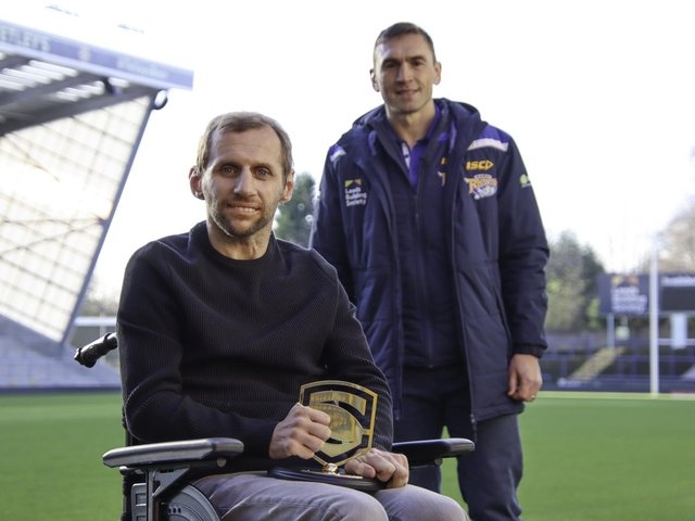 Welcome to Yorkshire has teamed up with Leeds Rhinos legend Rob Burrow, pictured with friend and former teammate Kevin Sinfield.