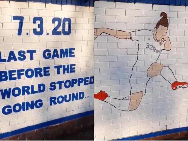 The new Leeds United mural from the Burley Banksy
