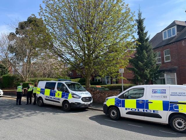 St Michael's Lane Headingley incident: Police on the scene
