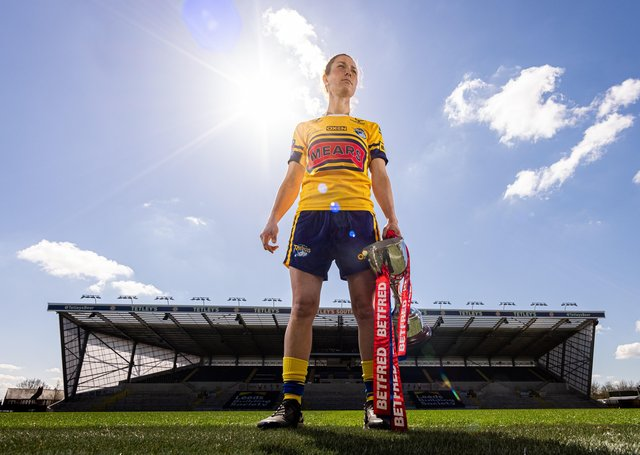 2019 Woman of Steel Courtney Winfield-Hill picked up where she left off against York City Knights. Picture: Alex Whitehead/SWpix.com.
