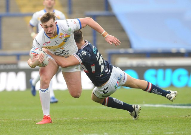 RISING STAR: Leeds Rhinos' Jack Broadbent. Picture: Steve Riding.