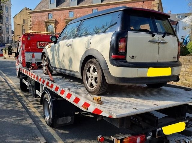 One vehicle was seized for having no insurance (photo: West Yorkshire Police - Leeds North West)