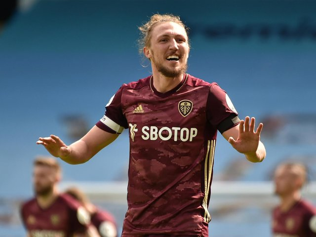 JUST THREE POINTS: Says Whites defender Luke Ayling, be it against Manchester City or - if Leeds United get their way - Liverpool. Photo by Rui Vieira - Pool/Getty Images.