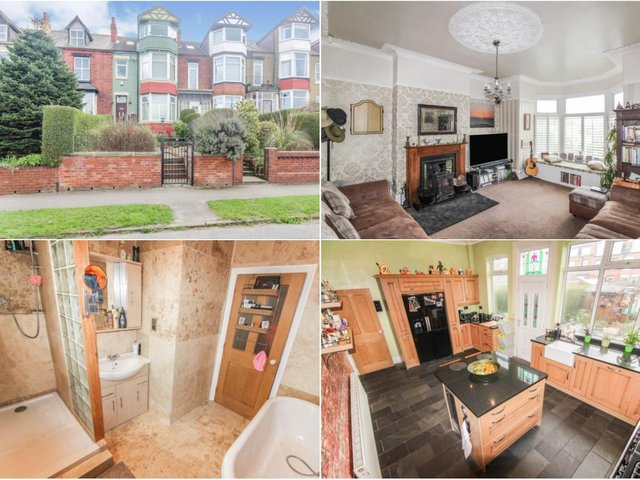 Take a look inside this stunning Edwardian townhouse on the market in Leeds.  Purple Bricks.