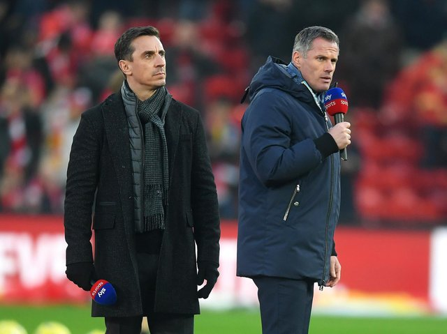 Gary Neville and Jamie Carragher have opposed the new European Super League plans. Pic: Getty