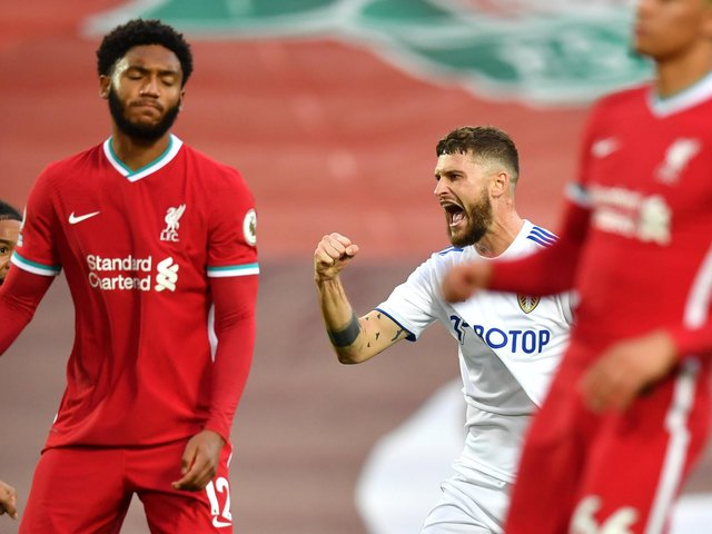 BIG CLASH - Leeds United take on European Super League member Liverpool tonight at Elland Road with the chance to strike a blow for football. Pic: Getty