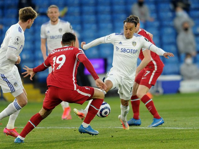 Leeds United held Liverpool to a 1-1 draw on Monday night. Pic: Simon Hulme