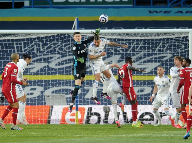 PUNCH UP - Leeds United went toe-to-toe with another Premier League big boy and more than held their own. The draw was a blow to European Super League founding member Liverpool, struck on behalf of football. Pic: Simon Hulme.