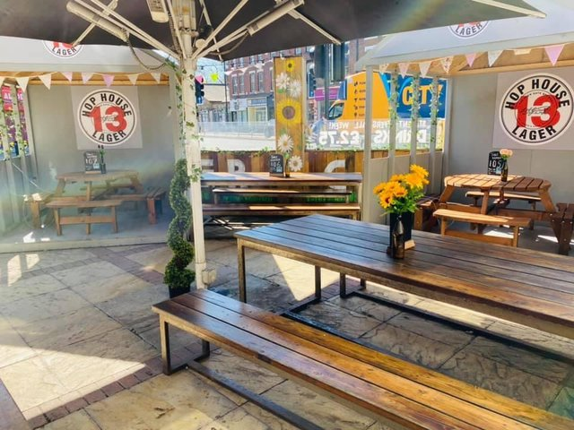 The Hyde Park is open for business again with its own beer garden