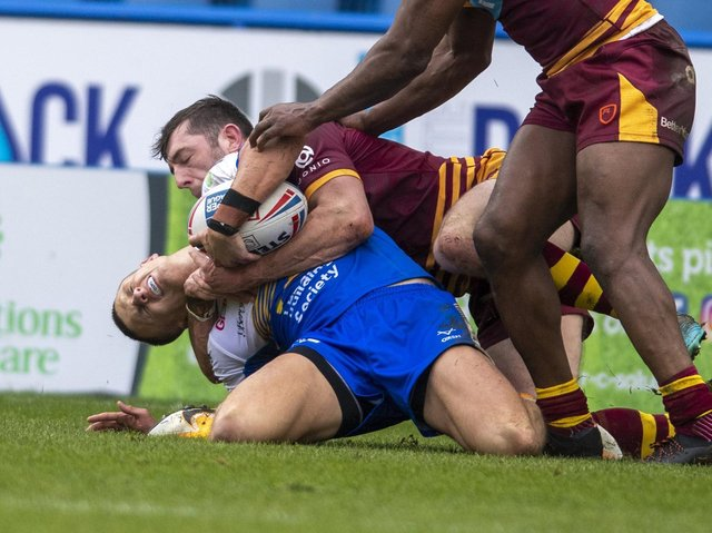 Ash Handley is set to return on Friday from a knee injury suffered in a pre-season game at Huddersfield Giants. Picture by Tony Johnson.