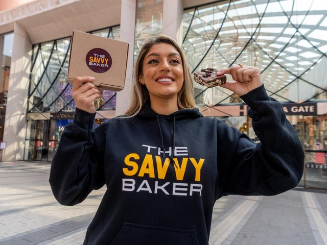 The Savvy Baker will be selling her mouth-watering brownies outside John Lewis in Victoria Gate on Sunday (photo: James Hardisty)