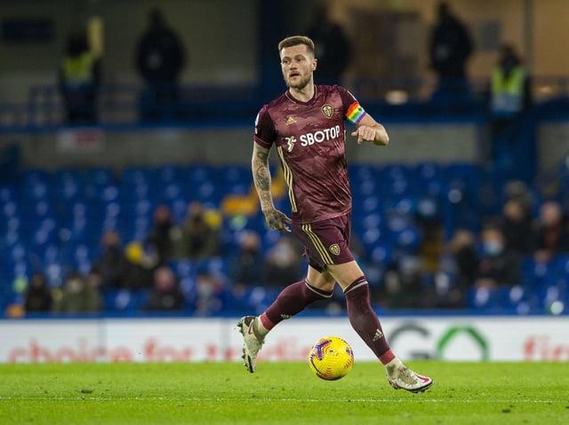 Leeds United club captain Liam Cooper. Pic: Bruce Rollinson