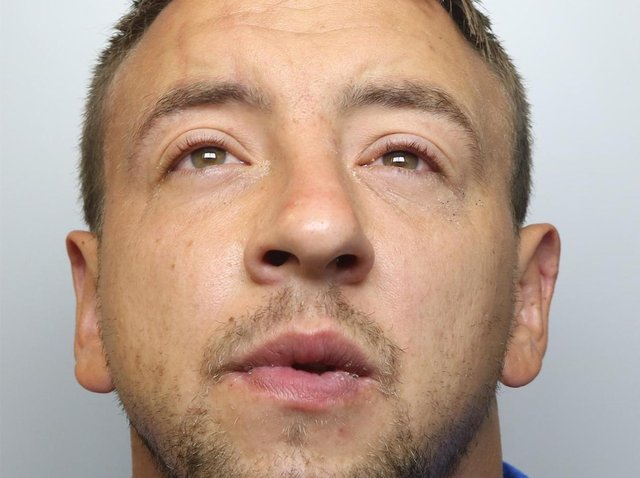 Gary Franks was jailed for three years, nine months for attacking his partner and assaulting police officers.