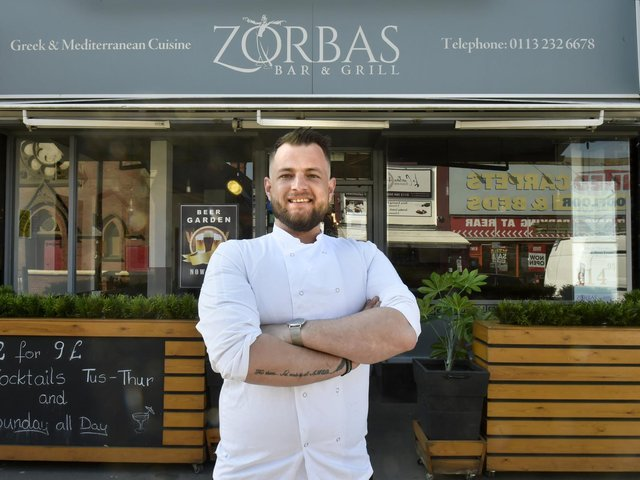 Besmir Sechou, co-owner and head chef at Zorbas Bar and Grill in Cross Gates