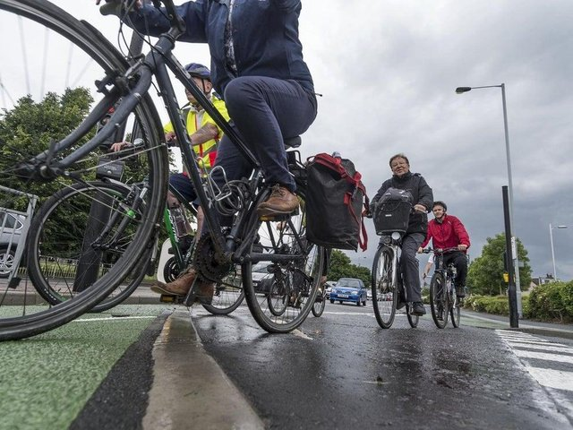 Cyclists should stay in their own lane.