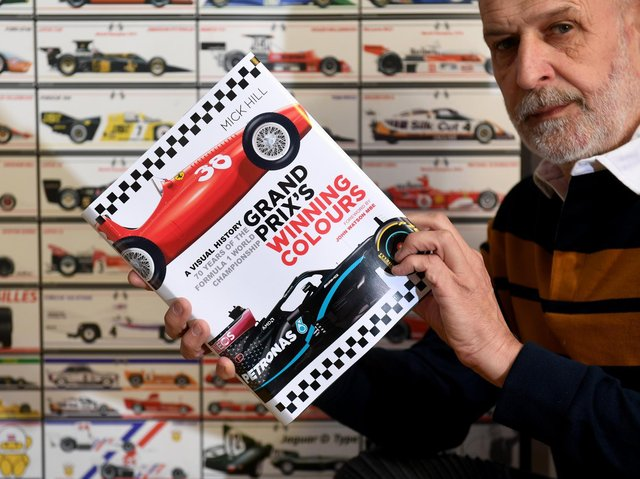 Mick Hill  is set to publish a book called Grand Prix's Winning Colours, which features  his illustrations of every Formula One car that won a grand prix between 1950 and 2020.  Photo: Simon Hulme