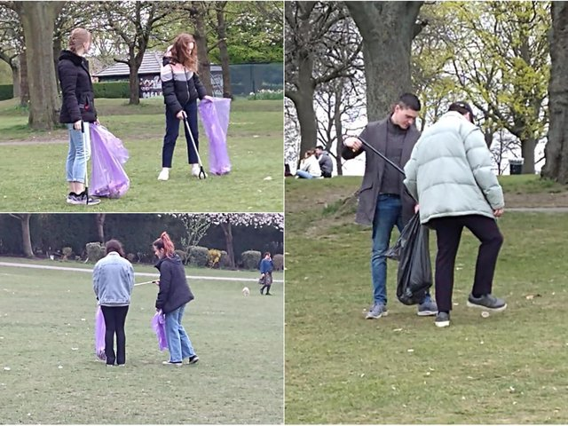 A Leeds resident has praised students spotted cleaning up on Woodhouse Moor after a large gathering held on Tuesday (April 20). cc Stevie Baker