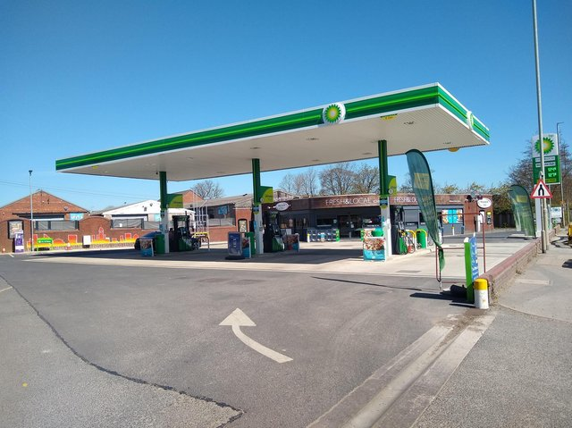 The BP service station in York Road, Whinmoor.