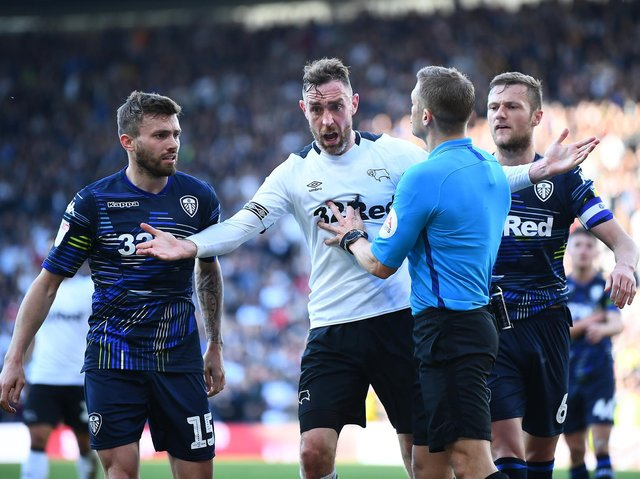 FLASH POINT - Craig Pawson takes charge of Leeds United's clash with Manchester United, giving him his first Whites reunion since the first leg of their play-off semi-final with Derby County. Pic: Getty