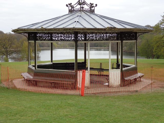 The bandstand has been cordoned off after being destroyed by a fire (Photo: Friends of Roundhay Park)