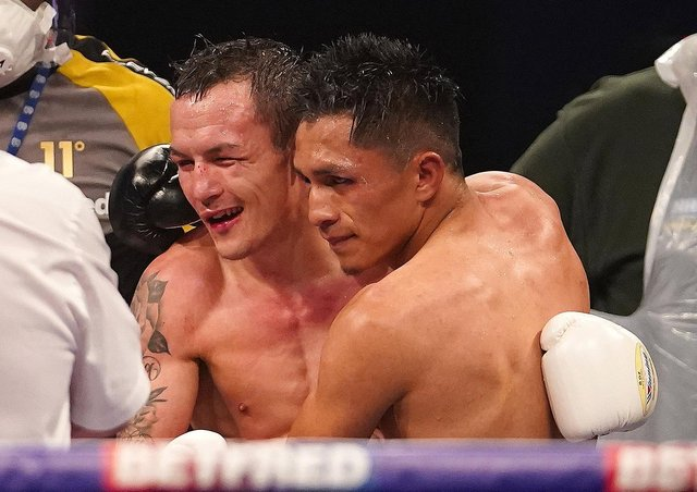 Dethroned: Leeds Warrior  Josh Warrington, left, was hoping to stage his IBF world featherweight title rematch against Mauricio Lara at Emerald Headingley.  Picture: Dave Thompson