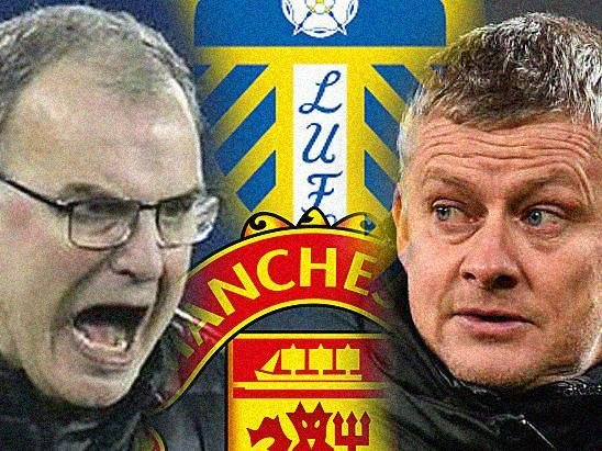WE'RE BACK: Leeds United head coach Marcelo Bielsa, left, and Manchester United boss Ole Gunnar Solskjaer who will lock horns in a first Elland Road league fixture between the two clubs in nearly 18 years. Graphic by Graeme Bandeira.