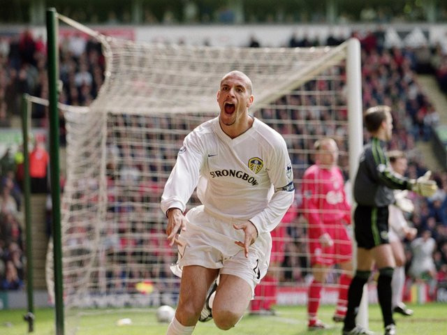 Enjoy these photo memories from Leeds United's 2-1 win at Anfield in April 2001.