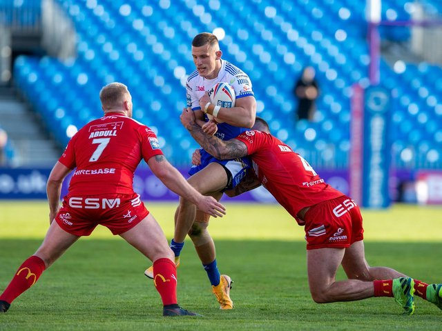 Ash Handley made his first appearance of the season against Hull KR. Picture by Bruce Rollinson.
