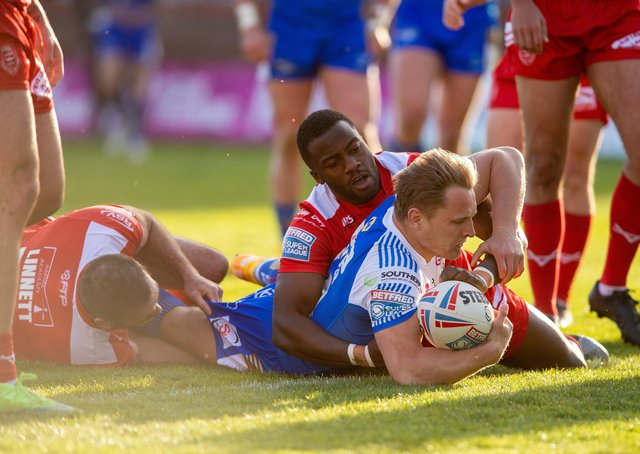 Sharp Dwyer: Brad Dwyer came off the bench to score the Rhinos only try against.  Picture Bruce Rollinson