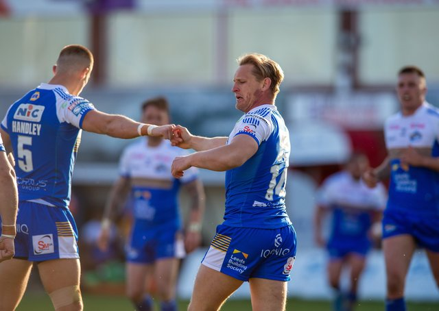 Bright spot: Brad Dwyer celebrates scoring Leeds' only try against Hull KR on a disappointing night for the Rhinos. Picture Bruce Rollinson