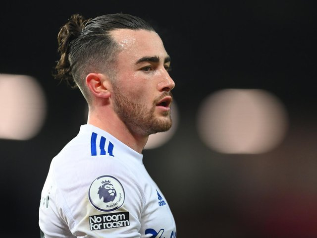 SECOND CHANCE: For Leeds United and winger Jack Harrison, above, against arch rivals Manchester United. Photo by NICK POTTS/POOL/AFP via Getty Images.