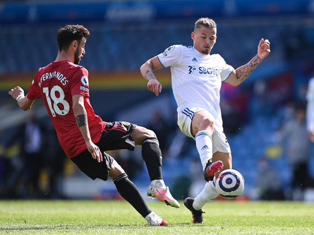 STAR PERFORMER - Kalvin Phillips was outstanding for Leeds United against Manchester United. Pic: Getty
