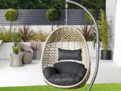 The Aldi hanging egg chair was back online for purchase for one day only. Photo: Aldi.