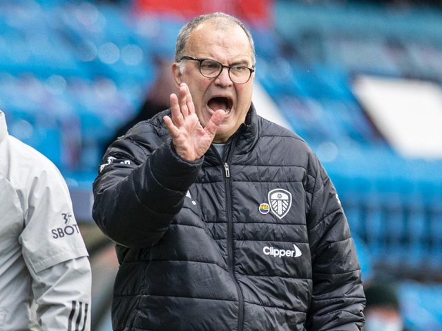 HUGE EFFORT - Marcelo Bielsa was delighted with the effort his Leeds United players produced against Manchester United in a 0-0 draw. Pic: Tony Johnson